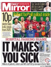 Daily Mirror (UK) Newspaper Front Page for 27 December 2018