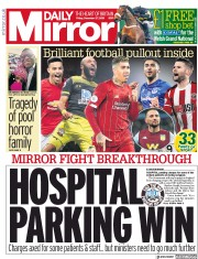 Daily Mirror (UK) Newspaper Front Page for 27 December 2019