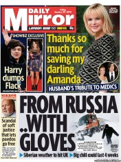 Daily Mirror () Newspaper Front Page for 27 January 2012