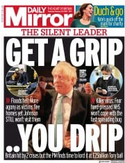 Daily Mirror (UK) Newspaper Front Page for 27 February 2020