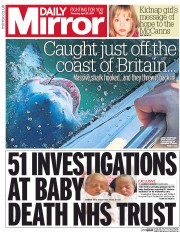 Daily Mirror (UK) Newspaper Front Page for 27 April 2017