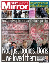 Daily Mirror front page for 27 April 2021