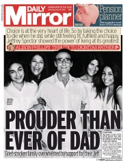 Daily Mirror (UK) Newspaper Front Page for 27 May 2015