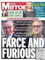 Daily Mirror front page for 27 May 2020