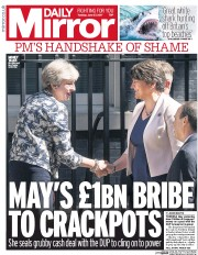 Daily Mirror (UK) Newspaper Front Page for 27 June 2017