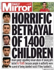 Daily Mirror (UK) Newspaper Front Page for 27 August 2014