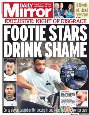 Daily Mirror (UK) Newspaper Front Page for 27 September 2019