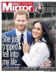 Daily Mirror (UK) Newspaper Front Page for 28 November 2017