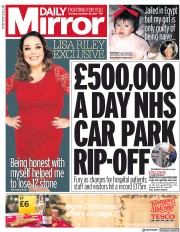 Daily Mirror (UK) Newspaper Front Page for 28 December 2017