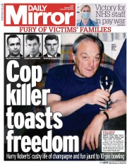 Daily Mirror (UK) Newspaper Front Page for 28 January 2015