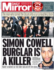 Daily Mirror (UK) Newspaper Front Page for 28 February 2017