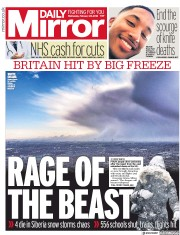 Daily Mirror (UK) Newspaper Front Page for 28 February 2018