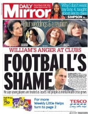 Daily Mirror () Newspaper Front Page for 28 February 2019