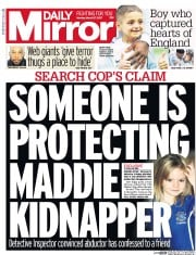 Daily Mirror (UK) Newspaper Front Page for 28 March 2017