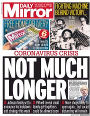 Daily Mirror (UK) Newspaper Front Page for 28 April 2020