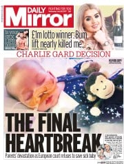 Daily Mirror (UK) Newspaper Front Page for 28 June 2017