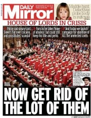 Daily Mirror (UK) Newspaper Front Page for 28 July 2015