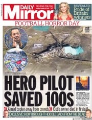 Daily Mirror (UK) Newspaper Front Page for 29 October 2018