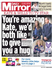 Daily Mirror (UK) Newspaper Front Page for 29 October 2020
