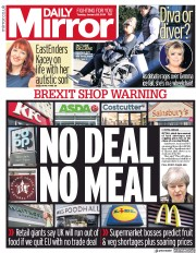 Daily Mirror (UK) Newspaper Front Page for 29 January 2019