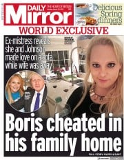 Daily Mirror (UK) Newspaper Front Page for 29 March 2021