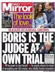 Daily Mirror front page for 29 April 2021