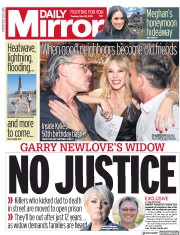 Daily Mirror (UK) Newspaper Front Page for 29 May 2018