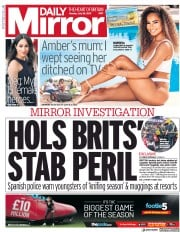 Daily Mirror (UK) Newspaper Front Page for 29 July 2019