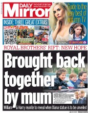 Daily Mirror (UK) Newspaper Front Page for 29 August 2020