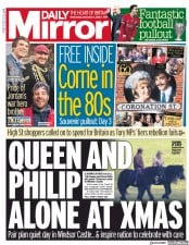 Daily Mirror front page for 2 December 2020
