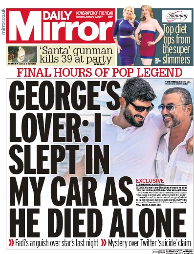 Daily Mirror (UK) Front Page for 2 January 2017 | Paperboy ... Daily Mirror