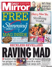 Daily Mirror front page for 2 January 2021