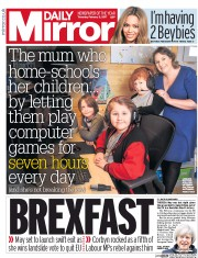 Daily Mirror (UK) Newspaper Front Page for 2 February 2017