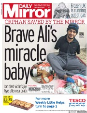 Daily Mirror (UK) Newspaper Front Page for 2 March 2018
