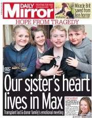 Daily Mirror (UK) Newspaper Front Page for 2 May 2018