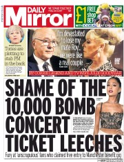 Daily Mirror (UK) Newspaper Front Page for 2 June 2017