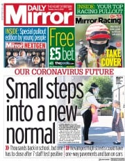 Daily Mirror front page for 2 June 2020