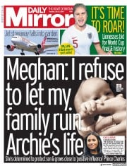 Daily Mirror (UK) Newspaper Front Page for 2 July 2019