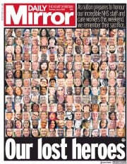 Daily Mirror front page for 2 July 2020