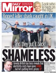 Daily Mirror (UK) Newspaper Front Page for 2 August 2017