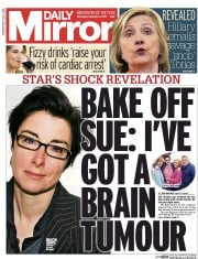 Daily Mirror (UK) Newspaper Front Page for 2 September 2015