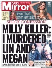 Daily Mirror (UK) Newspaper Front Page for 30 November 2017