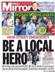 Daily Mirror (UK) Newspaper Front Page for 30 December 2019