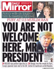 Daily Mirror (UK) Newspaper Front Page for 30 January 2017
