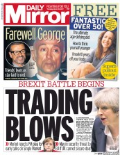 Daily Mirror (UK) Newspaper Front Page for 30 March 2017