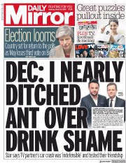 Daily Mirror (UK) Newspaper Front Page for 30 March 2019
