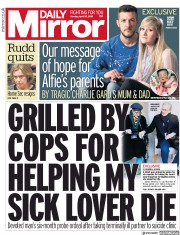 Daily Mirror (UK) Newspaper Front Page for 30 April 2018