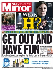 Daily Mirror front page for 30 April 2021