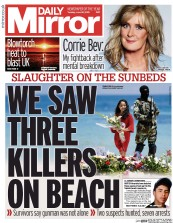 Daily Mirror (UK) Newspaper Front Page for 30 June 2015