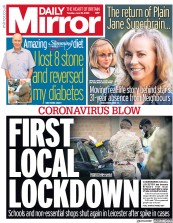 Daily Mirror front page for 30 June 2020